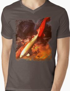 Koi in the Sky Mens V-Neck T-Shirt