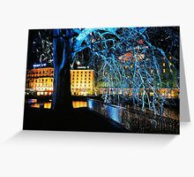 Geneva. Lake View with a Blur. Switzerland 2005 Greeting Card