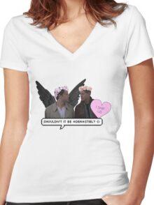"""shouldn't it be *dea*stiel ?"" //DESTIEL  Women's Fitted V-Neck T-Shirt"