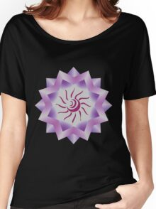 Sun Vector with Gradiation design Women's Relaxed Fit T-Shirt