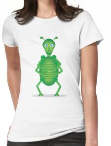 Happy Green Insect Womens Fitted T-Shirt