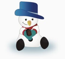 Snowman Eating Chocolate by James  Smart