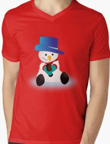 Snowman Eating Chocolate T-Shirt