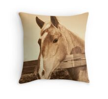 Portrait in Sepia Throw Pillow
