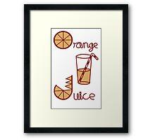 Orange Juice Framed Print