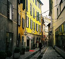 Bellinzona. A Streetview. Ticino, Switzerland 2005 by Igor Pozdnyakov