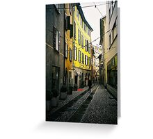Bellinzona. A Streetview. Ticino, Switzerland 2005 Greeting Card