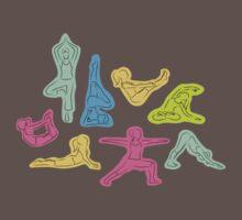 Rainbow Yoga Pattern One Piece - Short Sleeve