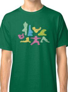 Rainbow Yoga Pattern Classic T-Shirt