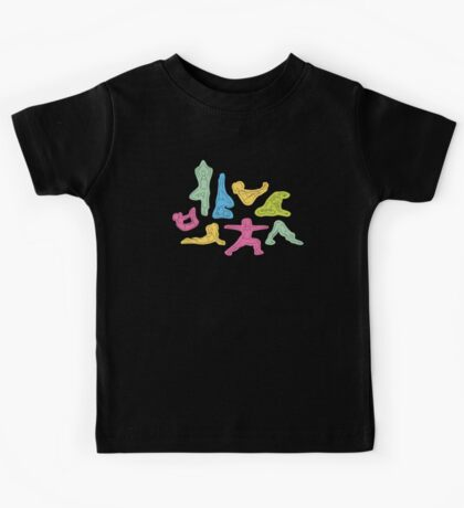 Rainbow Yoga Pattern Kids Tee