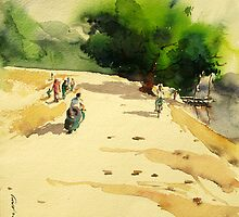 A road to village by limon