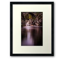 Bridge over Black Water Framed Print