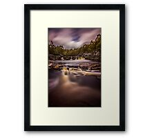Black Water Falls Framed Print