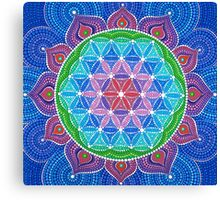 Lotus Flower of Life Canvas Print