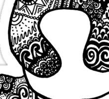 Hipster Zentangle Panda Bear Sticker