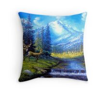 Sierra Mountain Meadow   Throw Pillow