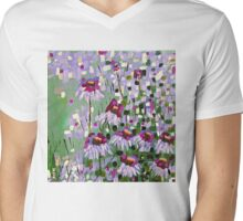 Purple Coneflowers Mens V-Neck T-Shirt