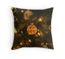 Christmas Glass bulbs Throw Pillow