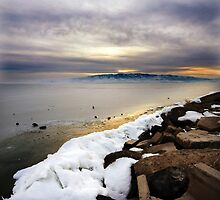 Utah Lake - Frozen by Ryan Houston