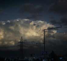 Before storm in city by Antanas