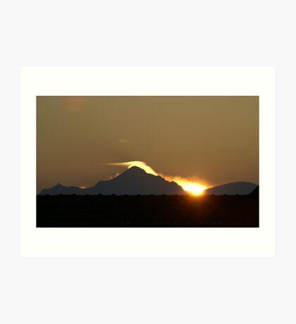 sunrise on Mont-Blanc Art Print