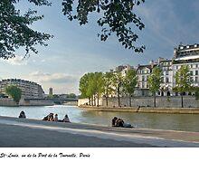 Ile St-Louis from la Tournelle, Paris by macondo