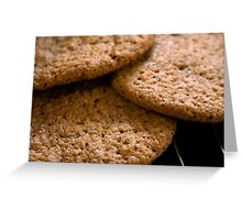 Brandy snaps Greeting Card