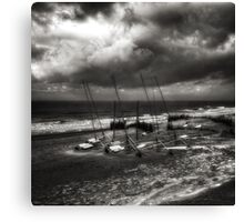 Riders on the 'snow' storm Canvas Print