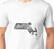 Hipster Massachusetts State Zentangle Unisex T-Shirt