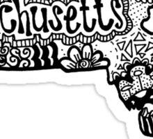 Hipster Massachusetts State Zentangle Sticker