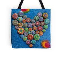 Mandala Stone Heart Tote Bag