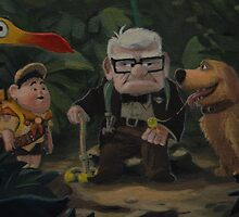 Disney Pixar UP Dug Russell Kevin Carl UP Characters Movie by notheothereye