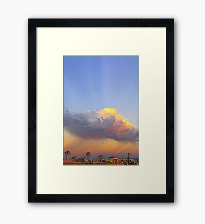 Rain Cloud Over Fremantle  Framed Print