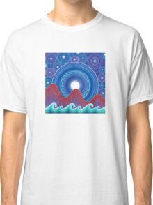 3 mountains and a moon Classic T-Shirt
