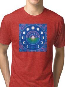 Moon Phase Mandala Tri-blend T-Shirt