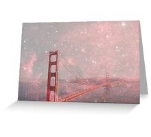 Stardust Covering San Francisco Greeting Card