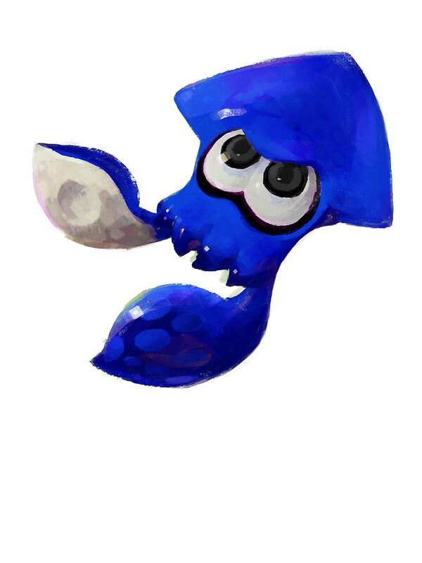 15157895 Splatoon Squid Blue Draw on S Spiral Border Green