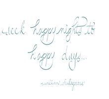 Shakespeare-Seek happy nights to happy days by llpartistry
