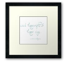 Shakespeare-Seek happy nights to happy days Framed Print
