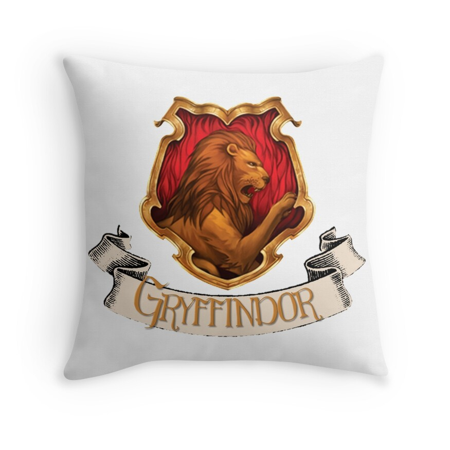 Gryffindor Crest Throw Pillow Shopswell