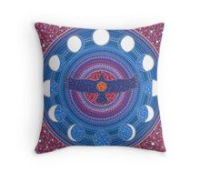 Dance of Wings and Moon Throw Pillow