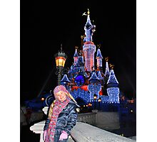 Annabel in Disneyland Photographic Print