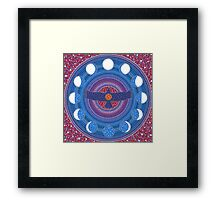 Dance of Wings and Moon Framed Print