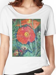 Red Poppies Women's Relaxed Fit T-Shirt