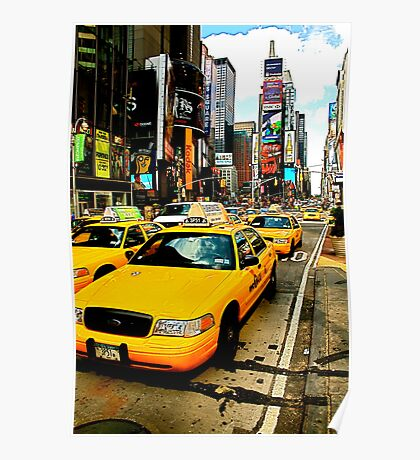 Times Square Taxi - NYC Poster