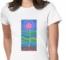 Lotus Growing Womens Fitted T-Shirt