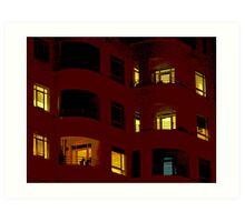 Night Lights - Port Melbourne Art Print