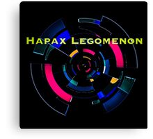 Hapax Legomenon Canvas Print