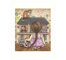 the doll house Art Print