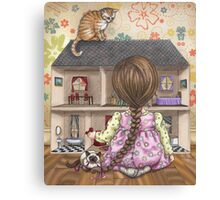 the doll house Canvas Print